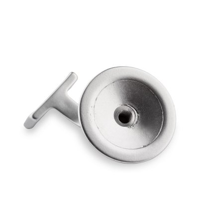 Picture: Handrail holder silver round support with hanger bolt (horizontal)