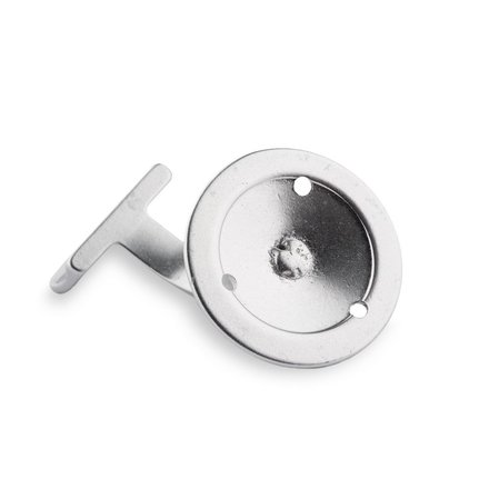Picture: Handrail holder silver straight support with screw hole (horizontal)