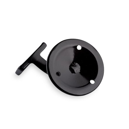 Handrail bracket black straight support with screw holes