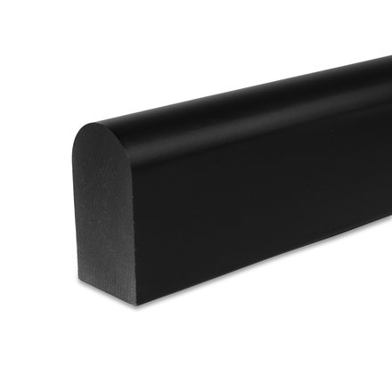 Picture: handrail black square rounded 45x80mm, ends cutted
