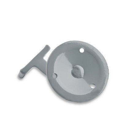 Picture: Handrail holder grey straight support with screw hole (horizontal)