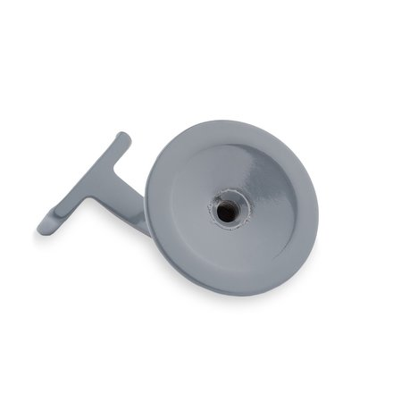Picture: Handrail holder grey straight support with hanger bolt (horizontal)