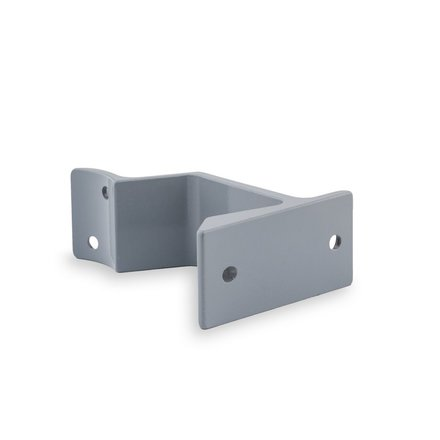 Picture: Handrail holder grey round support flat (horizontal)