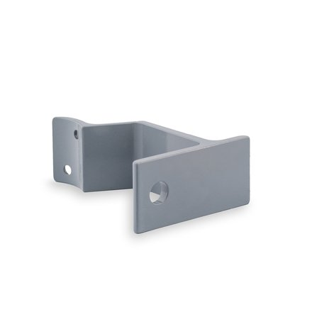 Picture: Handrail holder grey round support with cap nut (horizontal)