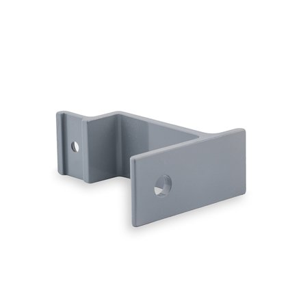 Picture: Handrail holder grey straight support with cap nut (horizontal)