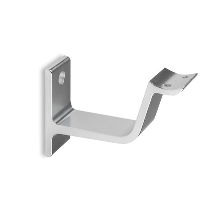 Picture: Handrail holder silver round support curved with cap nut
