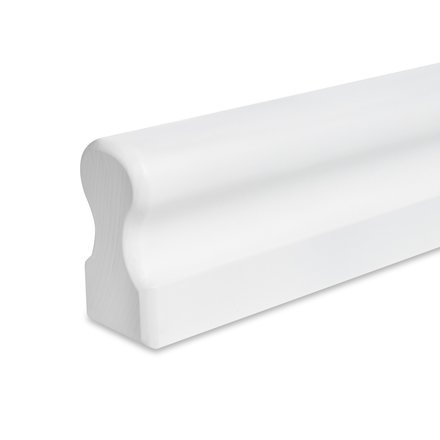 Picture: handrail white omega 45x80mm, ends rounded