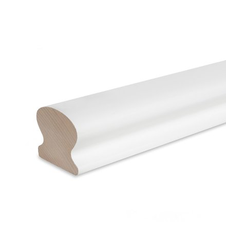 Picture: handrail white omega 55x50mm, ends cutted