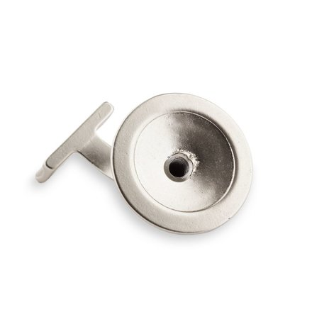 Picture: Handrail holder nickel silver round support with hanger bolt (horizontal)